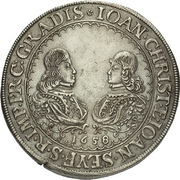 1 Thaler - Johann Christian & Johann Seyfried (Krummau) – obverse