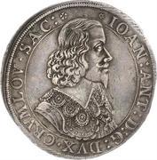 1 Thaler - Johann Anton – obverse