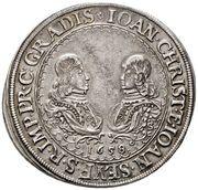 1 ¼ Thaler - Johann Christian a Johann Seyfried – obverse