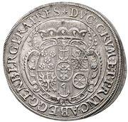 1 ¼ Thaler - Johann Christian a Johann Seyfried – reverse