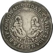 ¼ Thaler - Johann Christian & Johann Seyfried (Krummau) – obverse