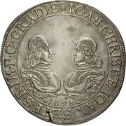 ½ Thaler - Johann Christian & Johann Seyfried (Krummau) – obverse