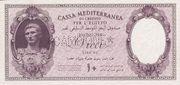 10 Lire (Italian occupation WWII) – obverse