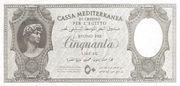 50 Lire (Italian occupation WWII) -  obverse