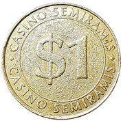 1 Dollar - Casino Semiramis – obverse