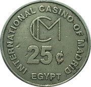 25 Cents - International Casino of Madrid – reverse