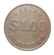 1 Dollar - Casino D'Egypt – reverse
