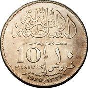 10 Qirsh / Piastres - Fuad I -  reverse