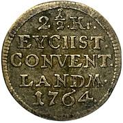 2½ Kreuzer - Raimund Anton von Strasoldo – reverse