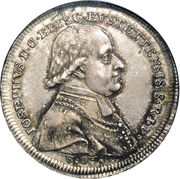 ½ Thaler - Joseph von Stubenberg – obverse