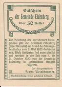 50 Heller (Eidenberg) – reverse