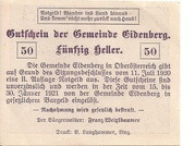 50 Heller (Eidenberg) -  reverse