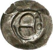 1 Pfennig (Hohlpfennig) – obverse