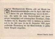 50 Heller (Eisenerz) – reverse
