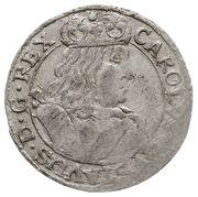 Szóstak / 6 Groszy - Karol X Gustaw (Swedish Occupation) – obverse