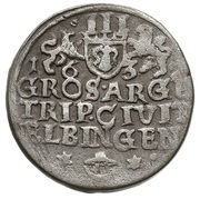 Trojak / 3 Grosze - Gustaw II Adolf (Swedish Occupation) – reverse