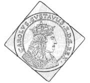 1/4 Talar - Karol X Gustaw (Swedish Occupation) – obverse