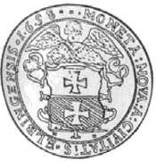 5 Dukat - Karol X Gustaw (Swedish Occupation) – reverse