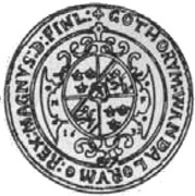 Portugał / 10 Dukat - Gustaw II Adolf (Swedish Occupation) – reverse