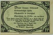 25 Pfennig (Ritterschaft) – obverse