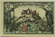 25 Pfennig (Ritterschaft) – reverse