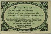 50 Pfennig (Ritterschaft) – obverse
