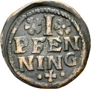 1 Pfennig - Johann Jakob Blarer von Watensee – reverse