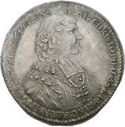 1 Thaler - Heinrich Christoph von Wolfframsdorf – obverse