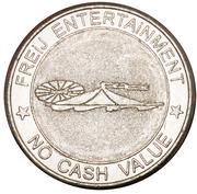 Amusement Token - Freij Entertainment (bigger inner circle, silver) – obverse