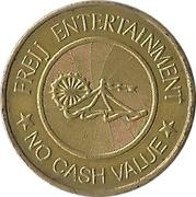 Amusement Token - Freij Entertainment (smaller inner circle, golden) – obverse