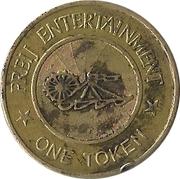 Amusement Token - Freij Entertainment (smaller inner circle, golden) – reverse