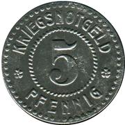5 Pfennig - Emmendingen – reverse