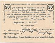 20 Heller (Engerwitzdorf) – reverse