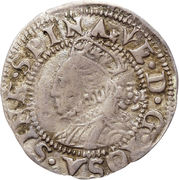 1½ Pence - Elizabeth I (3rd & 4th issue; large flan) – obverse