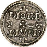 Penny - Eadgar (Two line type) – reverse
