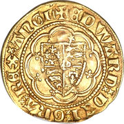 ¼ Noble - Edward III (Treaty coinage; London mint) – obverse