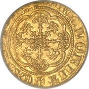 ¼ Noble - Edward III (Treaty coinage) – reverse