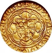 ¼ Noble - Edward III (Treaty coinage; Calais mint) – obverse