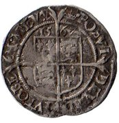 1 Penny - Elizabeth I (3rd & 4th issues) – reverse