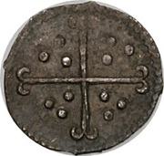 ½ Penny - Elizabeth I (7th issue) – reverse