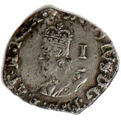 1 Penny - Charles I (Tower mint; Group B) – obverse