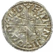 Penny - Æthelred II (Helmet type) – reverse