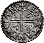 Penny - Æthelred II (Small Crux type) – reverse