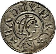 Penny - Eadmund (Helmeted portrait type) – obverse
