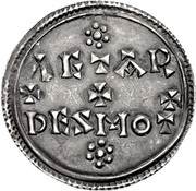Penny - Eadred (Two line type) – reverse