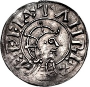 Penny - Æthelstan (Helmeted portrait type) – obverse