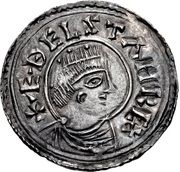 Penny - Æthelstan (Crowned bust type) – obverse