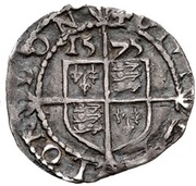 ¾ Penny - Elizabeth I (3rd & 4th issue) – reverse