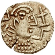 Thrymsa ('Two emperors' type) – obverse