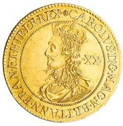 1 Unite - Charles I (Briot's milled issue) – obverse